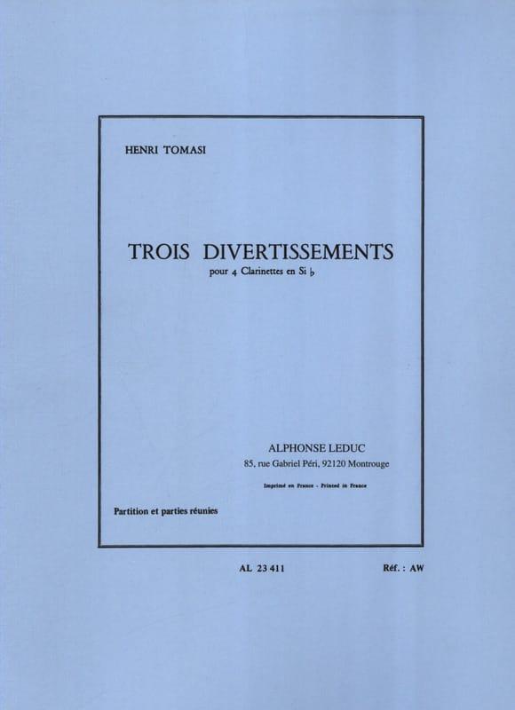 3 Divertissements - 4 Clarinettes - TOMASI - laflutedepan.com