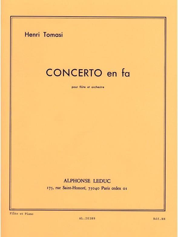 Henri Tomasi - Concerto In F - Partition - di-arezzo.co.uk
