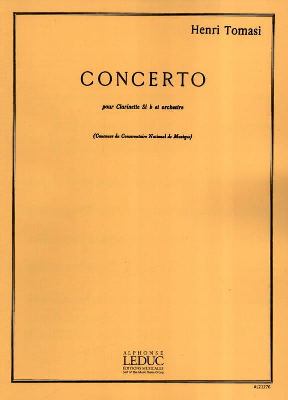 Concerto pour Clarinette - TOMASI - Partition - laflutedepan.com