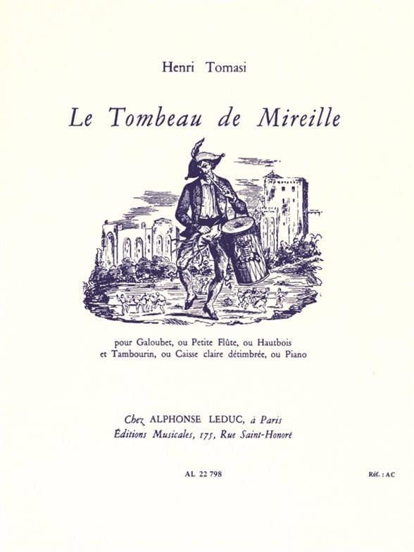 Henri Tomasi - The Tomb of Mireille - Partition - di-arezzo.co.uk
