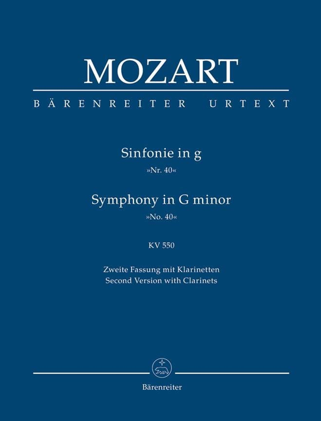 MOZART - Symphony No. 40 g-moll KV 550 2. Fassung - Partitur - Partition - di-arezzo.co.uk