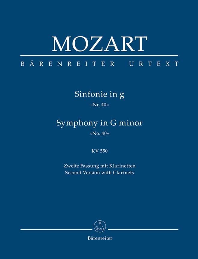 MOZART - Symphonie Nr. 40 g-moll KV 550 2. Fassung - Partitur - Partition - di-arezzo.fr