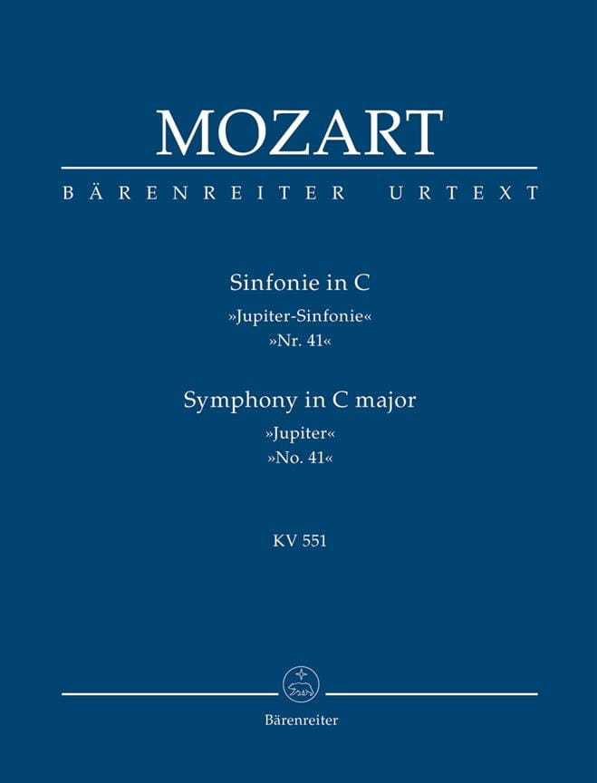 MOZART - Symphony Nr. 41 C-Dur KV 551 Jupiter - driver - Partition - di-arezzo.co.uk
