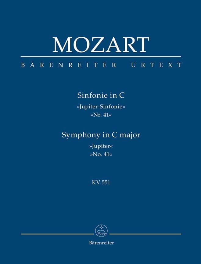 MOZART - Symphony Nr. 41 C-Dur KV 551 Jupiter - driver - Partition - di-arezzo.com