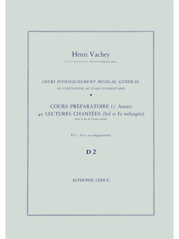 Henri Vachey - 40 Sung readings - D2 2 prep keys. A / A - Partition - di-arezzo.com