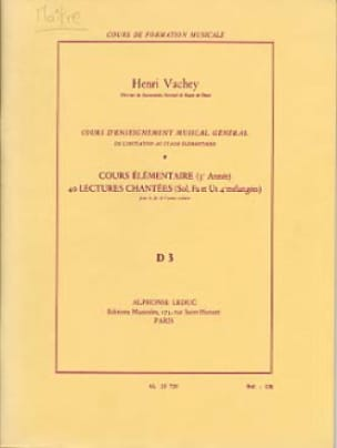 Henri Vachey - 40 Sung readings - D3 3 key elem. A / A - Partition - di-arezzo.com