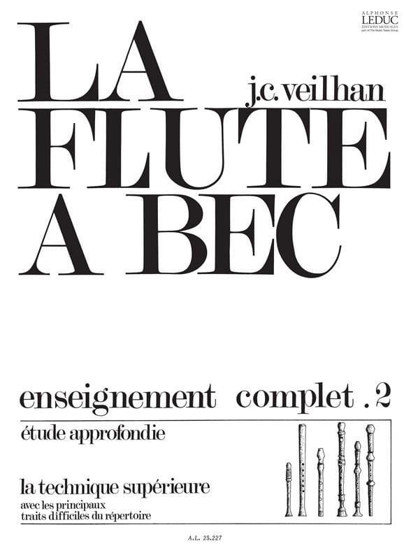 Jean-Claude Veilhan - The Recorder Volume 2 - Partition - di-arezzo.com