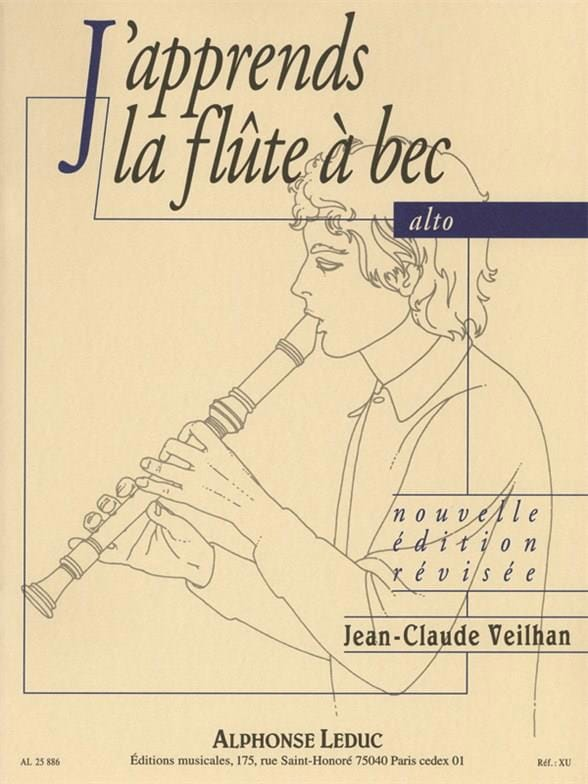 Jean-Claude Veilhan - I'm learning the alto recorder - Partition - di-arezzo.co.uk