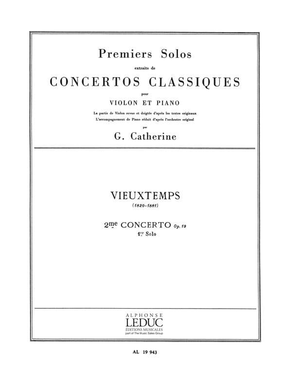 Vieuxtemps Henri / Catherine Georges - 1st solo of the Concerto n ° 2 op. 19 - Partition - di-arezzo.co.uk