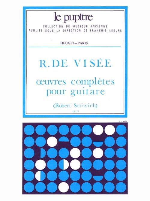 Oeuvres Complètes pour Guitare - VISEE Robert de - laflutedepan.com