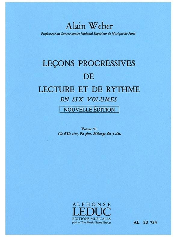 Alain Weber - Progressive Lessons for Reading and Rhythm Volume 6 - Partition - di-arezzo.co.uk