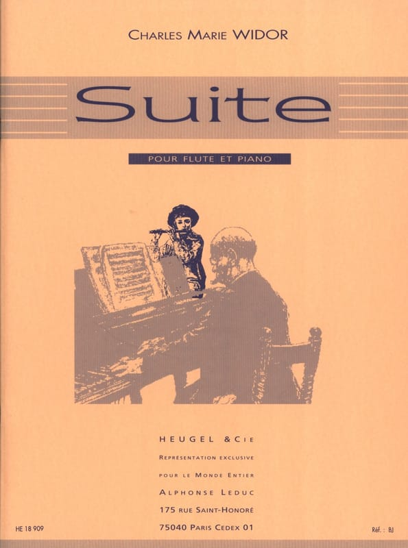 Charles-Marie Widor - Suite Op. 34 - Partition - di-arezzo.co.uk