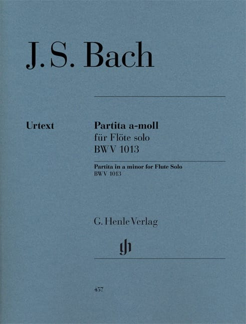 BACH - Partita in A minor BWV 1013 for solo flute - Partition - di-arezzo.co.uk
