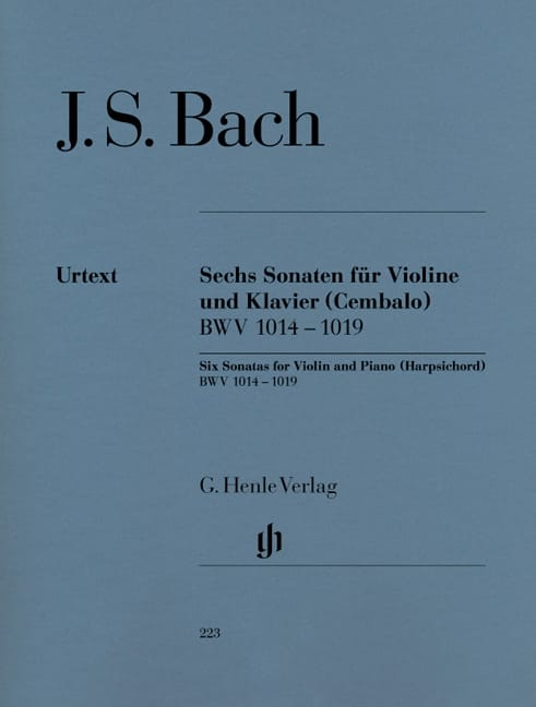 BACH - Six sonatas for violin and keyboard harpsichord BWV 1014-1019 - Partition - di-arezzo.co.uk