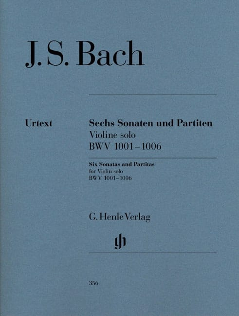 BACH - Sonatas and Partitas BWV 1001-1006 for solo violin - Partition - di-arezzo.co.uk