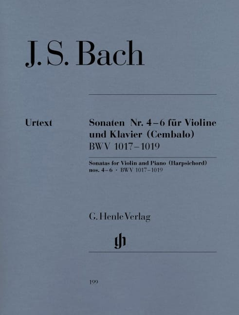 BACH - Violin Sonatas No. 4-6 - Partition - di-arezzo.co.uk