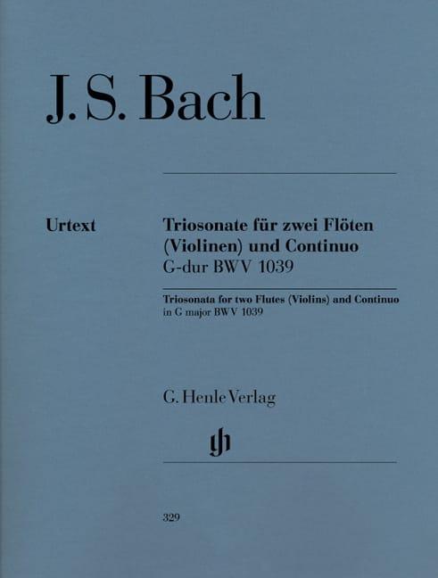 Sonate en trios en Sol majeur BWV 1039 pour deux flûtes et basse continue - laflutedepan.com