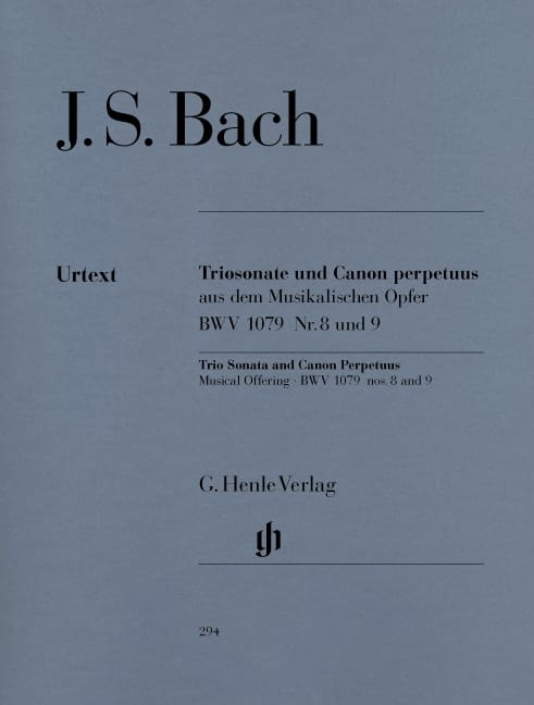 BACH - Trio Sonata and Canon Perpetuus from the BWV 1079 Musical Offering n ° 8 and 9 - Partition - di-arezzo.com
