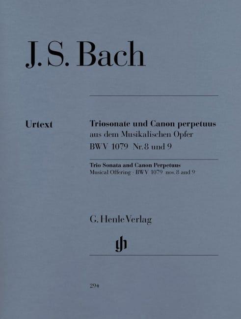 BACH - Trio Sonata e Canon Perpetuus dell'offerta musicale BWV 1079 n ° 8 e 9 - Partition - di-arezzo.it