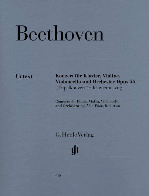 BEETHOVEN - Concierto en do mayor op. 56 para piano, violín, chelo y orquesta - Partition - di-arezzo.es