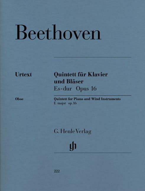 Quintette en Mi bémol majeur op. 16 pour piano, hautbois, clarinette, cor, basso - laflutedepan.com