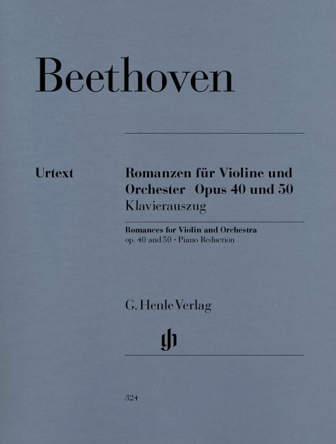 BEETHOVEN - Romances en sol mayor op. 40 y en F mayor op. 50 para violín y orquesta - Partition - di-arezzo.es