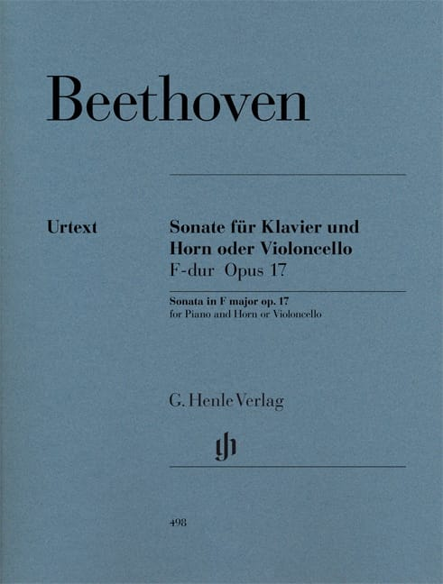 BEETHOVEN - Sonata for horn or cello in F major op. 17 - Partition - di-arezzo.co.uk