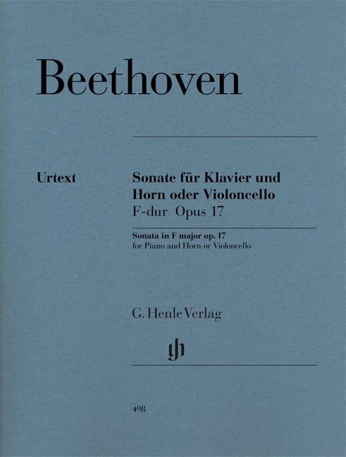 BEETHOVEN - Sonate pour cor ou violoncelle en Fa majeur op. 17 - Partition - di-arezzo.fr