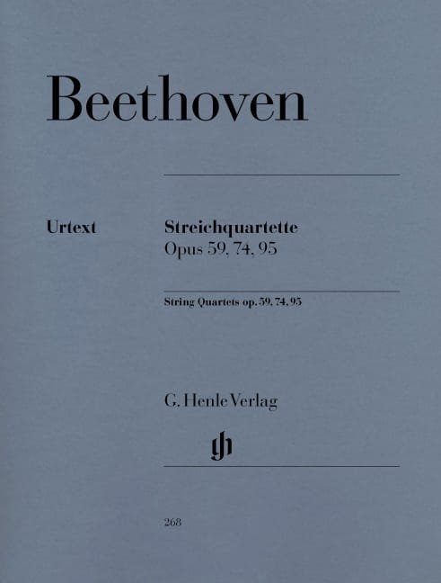 BEETHOVEN - String quartets op. 59, 74, 95 - Partition - di-arezzo.co.uk