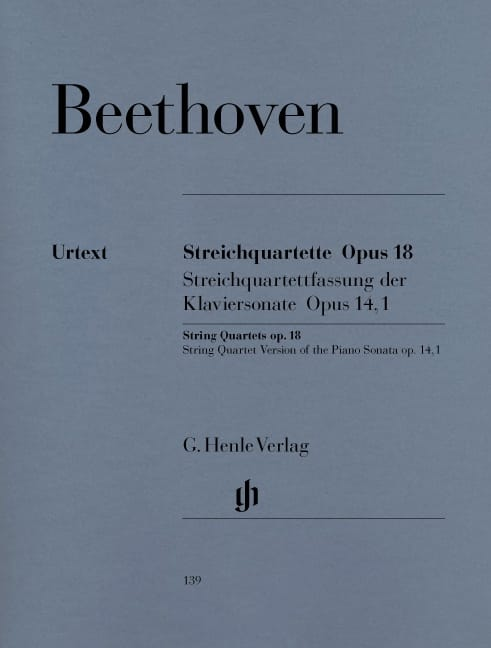 BEETHOVEN - String quartets op. 18 No 1-6 - Partition - di-arezzo.co.uk