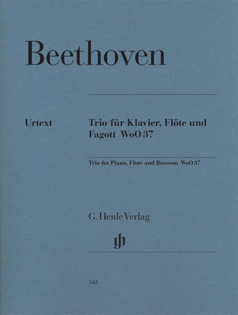 BEETHOVEN - Trio with flute in G major WoO 37 for piano, flute and bassoon - Partition - di-arezzo.com