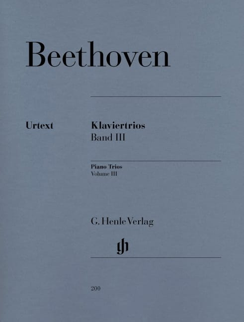 BEETHOVEN - Trios with piano, volume 3 - Partition - di-arezzo.co.uk