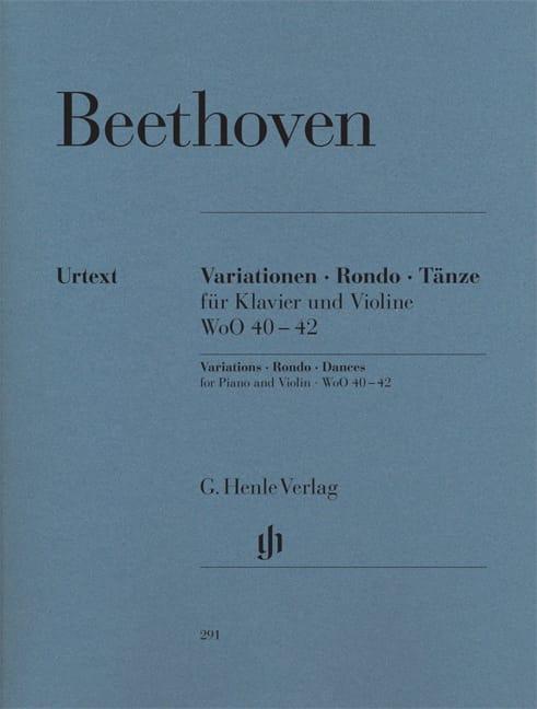 Variations, Rondo, Danses pour piano et violon - laflutedepan.com