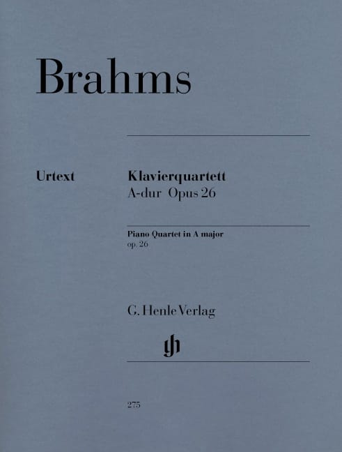BRAHMS - Quartet with piano in A major op. 26 - Partition - di-arezzo.com