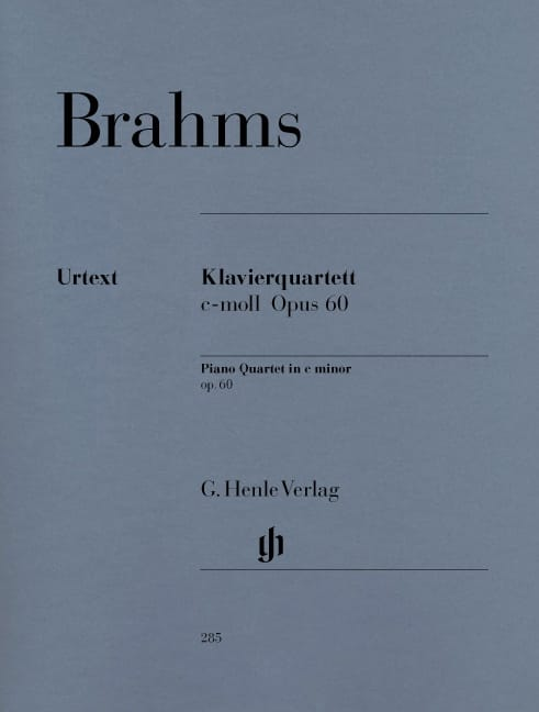 BRAHMS - Quartet with piano in C minor op. 60 - Partition - di-arezzo.com