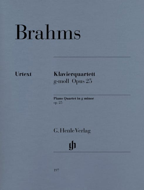BRAHMS - Quartet with piano in G minor op. 25 - Partition - di-arezzo.com