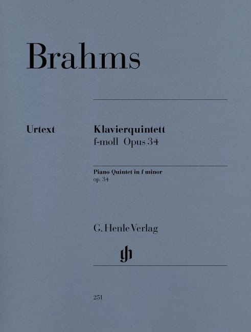 BRAHMS - Quintet with piano in F minor op. 34 - Partition - di-arezzo.com