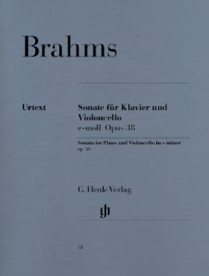 BRAHMS - Sonata op. 38 SOLD OUT - Partition - di-arezzo.co.uk
