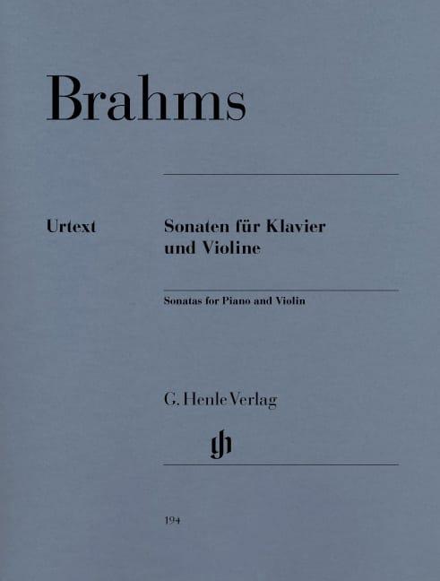 BRAHMS - Violin sonatas - Partition - di-arezzo.com