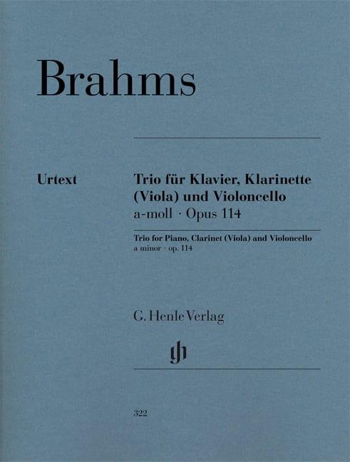 Trio en la mineur op. 114 pour piano, clarinette ou alto et violoncelle - laflutedepan.com