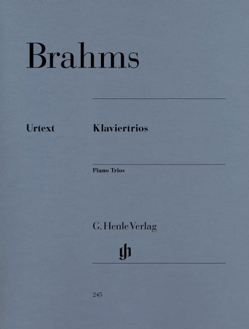 BRAHMS - Trios with piano - Partition - di-arezzo.co.uk