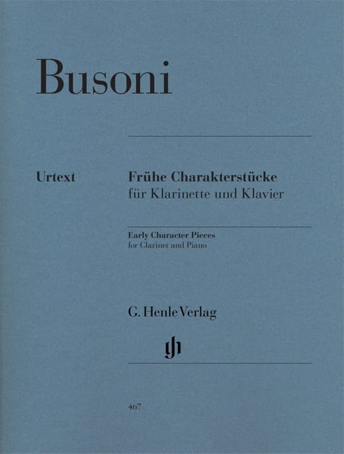 Ferruccio Busoni - Youth Character Pieces for Clarinet and Piano First Edition - Partition - di-arezzo.com