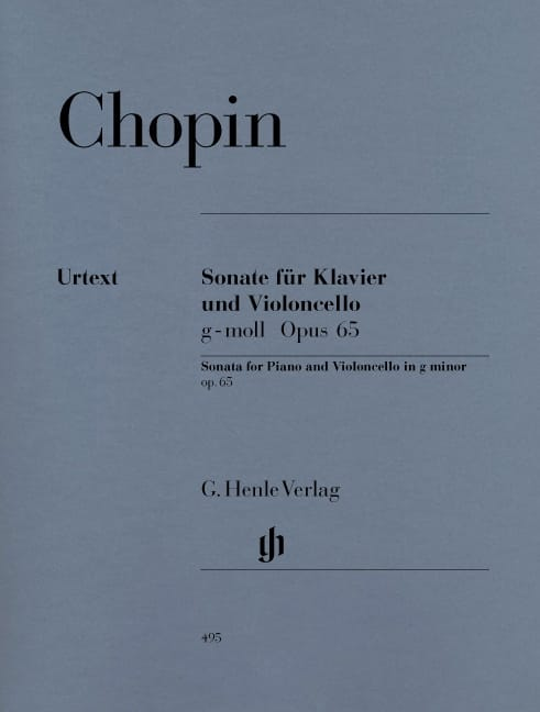 CHOPIN - Sonata for Cello in G minor op. 65 - Partition - di-arezzo.com