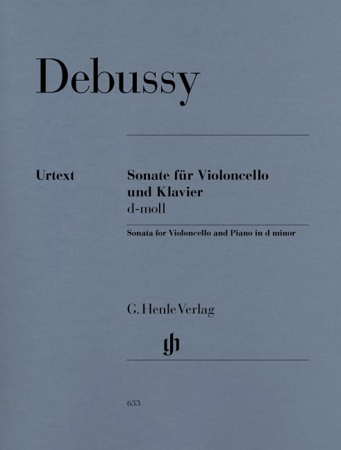 DEBUSSY - Sonata for cello and piano d minor - Partition - di-arezzo.co.uk
