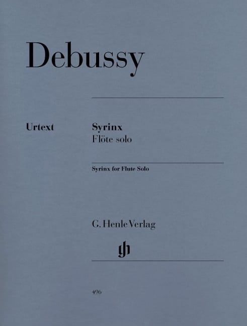 DEBUSSY - Syrinx - Flute Solo - Partition - di-arezzo.co.uk