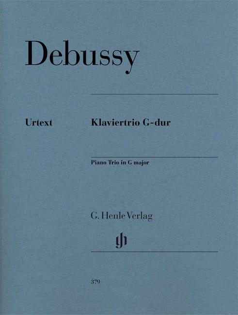 Trio avec piano en Sol majeur - DEBUSSY - Partition - laflutedepan.com