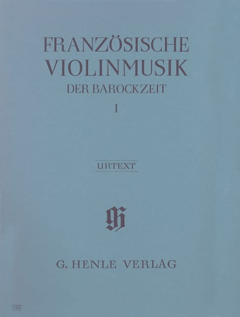 Musique française pour violon de l'époque baroque, volume 1 - laflutedepan.com