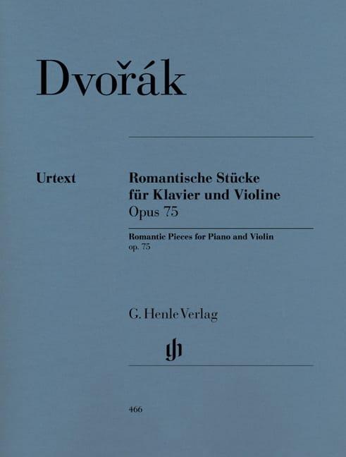 DVORAK - Pièces romantiques op. 75 - Partition - di-arezzo.fr