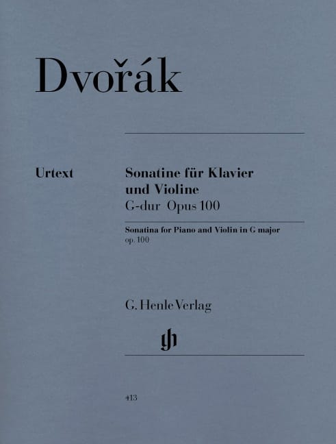 DVORAK - Sonatine for violin in G major op. 100 - Partition - di-arezzo.co.uk