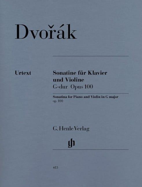 DVORAK - Sonatine pour violon en Sol majeur op. 100 - Partition - di-arezzo.fr
